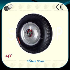 16inch-powered-wheel-with-wire-tire24v-180w-brush-dc-hub-motor-1dy-d2
