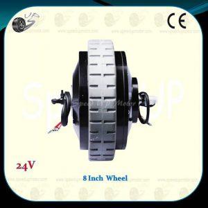 24v-300w-brushed-hub-dc-motor-8-inch-powered-wheel-1dy-e5a