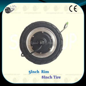 8Inch Inflatable Tyre Powered Wheel Brushless Hub DC Motor, SA02-8-